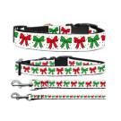 Christmas Bows Nylon Ribbon Collars | PrestigeProductsEast.com