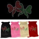 Christmas Bows Rhinestone Knit Pet Sweater | PrestigeProductsEast.com