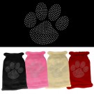 Clear Rhinestone Paw Knit Pet Sweater | PrestigeProductsEast.com