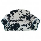 Cowprint with Turquoise Interior Pull Out Pet Sleeper Sofa Bed | PrestigeProductsEast.com