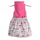 Pink Top with Owl Print Skirt   PrestigeProductsEast.com