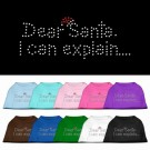 Dear Santa I Can Explain Rhinestone Shirt | PrestigeProductsEast.com