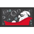 Non-Slipping Bathtub or Sink Mat - Happy Dog Design