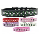 Sprinkles Dog Collar Pearl and Emerald Green Crystals | PrestigeProductsEast.com