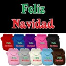 Feliz Navidad Screen Print Pet Hoodie | PrestigeProductsEast.com
