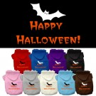Happy Halloween Screen Print Pet Hoodies | PrestigeProductsEast.com
