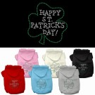 Happy St. Patrick's Day Rhinestone Hoodie | PrestigeProductsEast.com