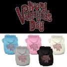 Happy Valentines Day Rhinestone Hoodies | PrestigeProductsEast.com