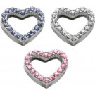 "Heart Sliding Charms - 3/4"" (18mm) 