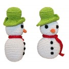 Knit Knacks Frost The Snowman Organic Cotton Dog Toy | PrestigeProductsEast.com