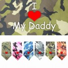 I Love Daddy Screen Print Bandana | PrestigeProductsEast.com