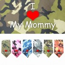 I Love Mommy Screen Print Bandana | PrestigeProductsEast.com