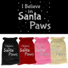 I Believe in Santa Paws Screen Print Knit Pet Sweater | PrestigeProductsEast.com