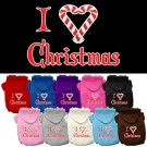 I Heart Christmas Screen Print Pet Hoodie | PrestigeProductsEast.com