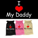 I Heart Daddy Screen Print Knit Pet Sweater | PrestigeProductsEast.com