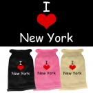 I Love New York Screen Print Knit Pet Sweater | PrestigeProductsEast.com
