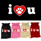 I Love You Screen Print Knit Pet Sweater | PrestigeProductsEast.com