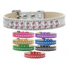 Sprinkles Ice Cream Dog Collar Pearl and Bright Pink Crystals | PrestigeProductsEast.com