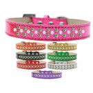 Sprinkles Ice Cream Dog Collar Pearl and Lime Green Crystals | PrestigeProductsEast.com