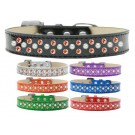 Sprinkles Ice Cream Dog Collar Pearl and Orange Crystals | PrestigeProductsEast.com