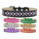 Sprinkles Ice Cream Dog Collar Pearl and Purple Crystals | PrestigeProductsEast.com