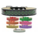 Sprinkles Ice Cream Dog Collar Emerald Green Crystals | PrestigeProductsEast.com