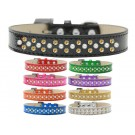 Sprinkles Ice Cream Dog Collar Pearl and Yellow Crystals | PrestigeProductsEast.com