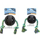 Jingle X-Tire Ball with Single Rope, Fetch 'n Toss Dog Toy | PrestigeProductsEast.com