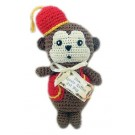 Knit Knack Fez Monkey Organic Cotton Dog Toy | PrestigeProductsEast.com