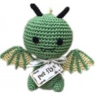 Knit Knacks Drogo the Dragon Organic Cotton Small Dog Toy | PrestigeProductsEast.com