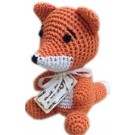 Knit Knacks Kit the Fox Organic Cotton Small Dog Toy | PrestigeProductsEast.com