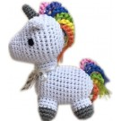 Knit Knacks Mystic the Magic Unicorn Organic Cotton Small Dog Toy | PrestigeProductsEast.com