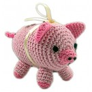 Knit Knack Piggy Boo Organic Cotton Dog Toy | PrestigeProductsEast.com