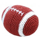 Knit Knacks Snap the Football Organic Cotton Small Dog Toy | PrestigeProductsEast.com