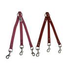Leather 3-Dog Leash Coupler | PrestigeProductsEast.com