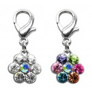 Lobster Claw Flower Clip on Charms | PrestigeProductsEast.com