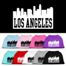 Los Angeles Skyline Screen Print Pet Shirt | PrestigeProductsEast.com