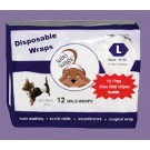 Male Dog Disposable Wraps LG 12 Pack