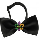 Mardi Gras Fleur de Lis Chipper Pet Bow Tie | PrestigeProductsEast.com