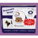 Male Dog Disposable Wraps Med 12 Pack