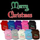 Merry Christmas Screen Print Pet Hoodie | PrestigeProductsEast.com
