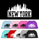 New York Skyline Screen Print Pet Shirt | PrestigeProductsEast.com