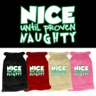 Nice until proven Naughty Screen Print Knit Pet Sweater | PrestigeProductsEast.com