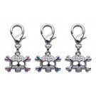 Lobster Claw Skull Clip on Charms | PrestigeProductsEast.com