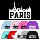 Paris Skyline Screen Print Pet Shirt | PrestigeProductsEast.com