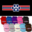 Patriotic Star Paw Screen Print Pet Hoodie | PrestigeProductsEast.com