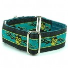 Paw Yang Teal Satin Lined Collars & Leads | PrestigeProductsEast.com