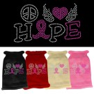 Peace Love Hope Rhinestone Knit Pet Sweater | PrestigeProductsEast.com