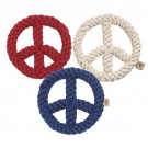 "Peace Sign 7"" Rope Dog Toy 