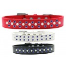 Sprinkles Dog Collar Pearl and Blue Crystals | PrestigeProductsEast.com